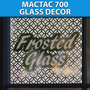MACtac Glass Decor Vinyl 24'' x 5yd - Frosted