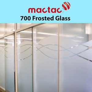 "Mactac 12""x24"" Glass Decor up to 7 years Frosted"