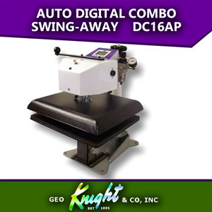 "Geo Knight 14""x16"" Automatic Digital Combo swing-away Heat Press"