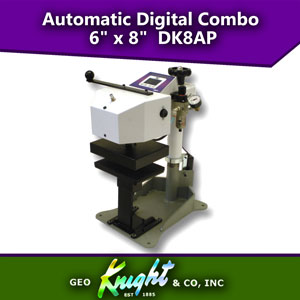 "Knight DC8AP 6"" x 8"" Automatic Digital Combo Heat Press"