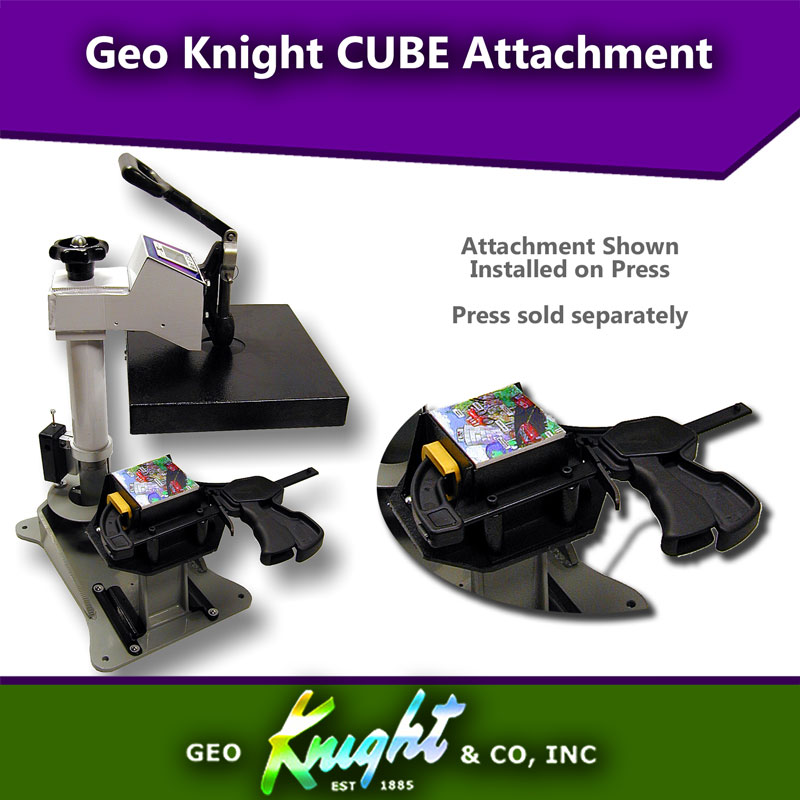 Geo Knight Heat Press CUBE Attachment