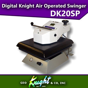 "Geo Knight DK20SP 16"" x 20"" Automatic Digital Swinger Heat Press"