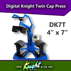 Geo Knight Digital Knight 4x7 Twin Cap Heat Press