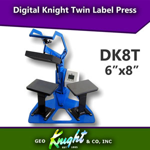 Geo Knight Digital Knight 6x8 Twin Label Heat Press