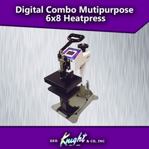 "Digital Combo multipurpose swing-away heat press 6"" x 8"""