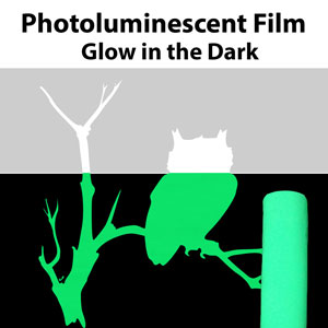 "12"" x 24"" Glow in the dark Photoluminescent Film"