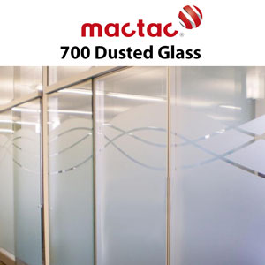 "Mactac 12""x 24"" yd Glass Decor up to 7 years Dusted"