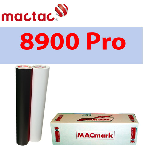 "Mactac 12"" x 50 yds Adhesive Matte Removable Black/White"