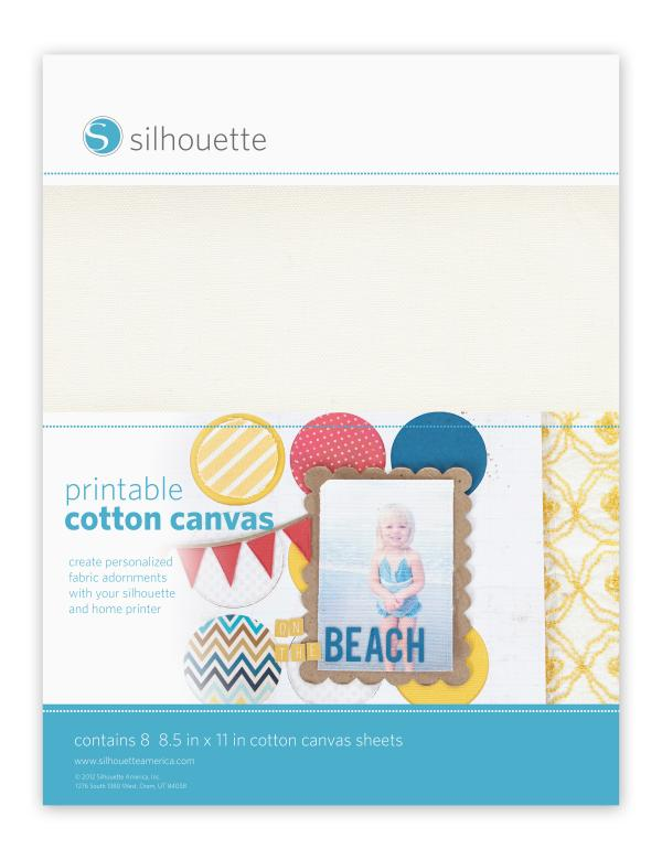 Inkjet or laserjet Printable STICKER 8 SHEETS COTTON CANVAS