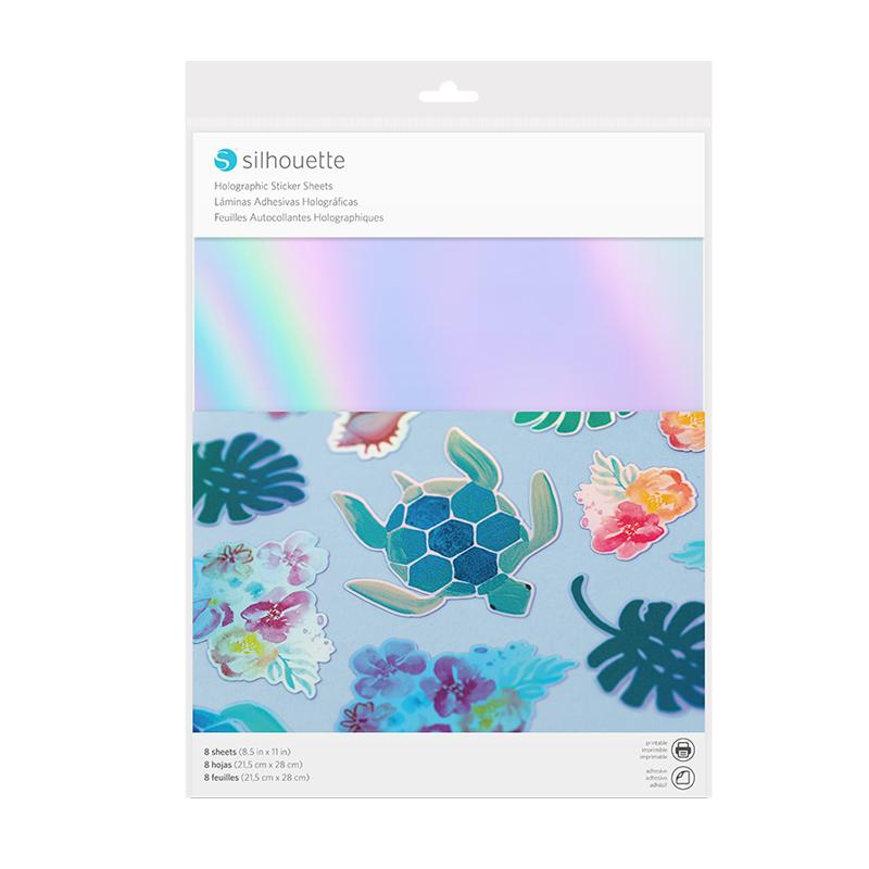 Inkjet or laserjet Printable STICKER HOLOGRAPHIC 8 SHEETS