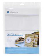 "PRINTABLE WHITE STICKER PAPER 8.5""x 11"" x 8 sheets"
