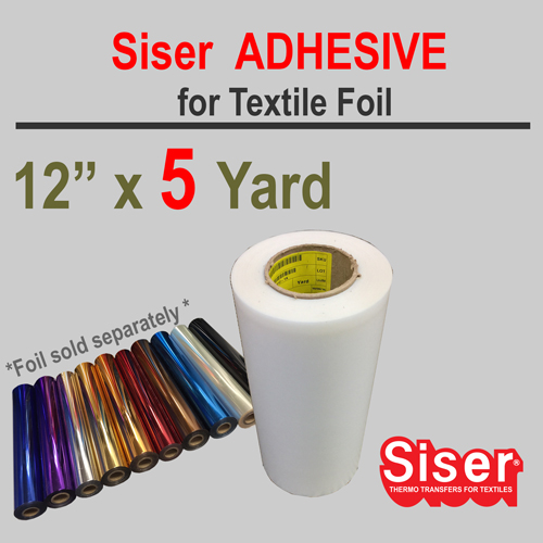 "Siser EasyWeed Adhesive 12"" X 5 Yard w/Option Foil"