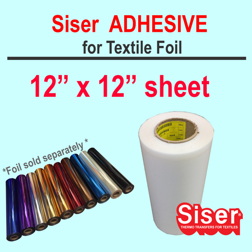 "Siser EasyWeed Adhesive 12"" X 12"" w/Option Foil by sheet"
