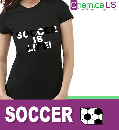 "Chemica Soccer Pattern Heat Transfer Vinyl 15"" by the yard"
