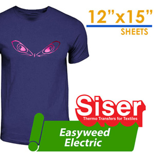 "Siser Electric foil Unique Finishes Heat Transfer 12""X15"""
