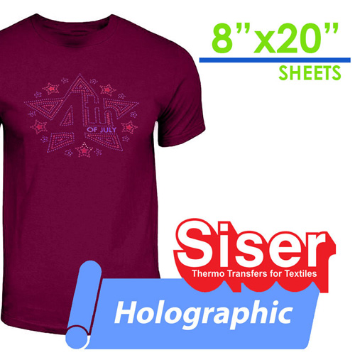 "Siser Holographic Heat Transfer 8""X20"""