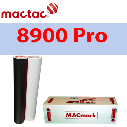 "Mactac 12"" x 10yds Adhesive Matte Removable Black/White"