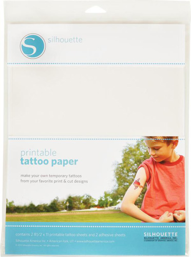 "temporary Printable tattoo paper 8.5""x11"" x 2 sheets"