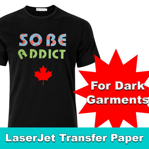 Laser Dark HITEMP PLUS OPAQUE SOFT FOR HEAT TRANSFER PAPER 5SH