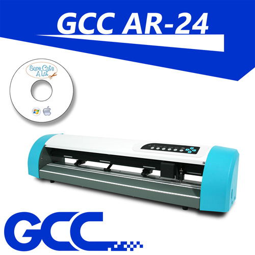 "GCC AR 24"" VINYL CUTTER + Floor stand + SCA Software for MAC/PC"
