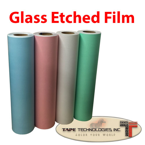 "Etched frosted Color Glass Film 24"" x 1 yds"