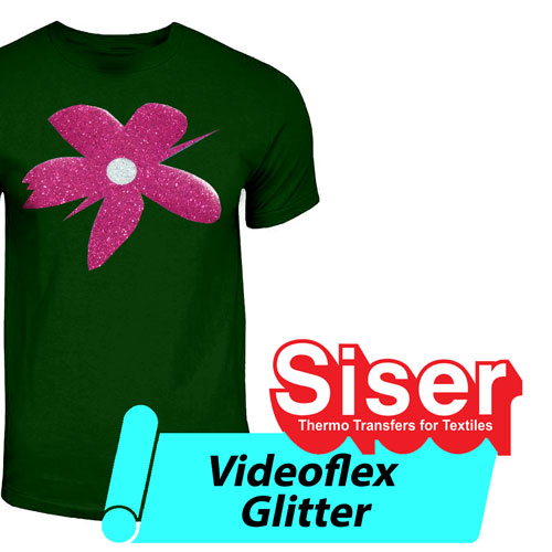 "Siser VideoFlex Glitter Heat Transfer 15"" - by the Yard"