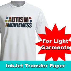 "TRANSJET II INKJET LIGHT soft HEAT TRANSFER PAPER 8.5""X11"" X 5PC"