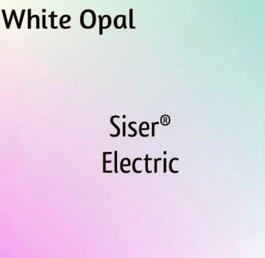 "White Opal Siser Electric 12'X 15"" Unique Finishes"