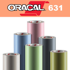 "Oracal 631 Matte Removable Adhesive Vinyl Film 12"" X 12"""