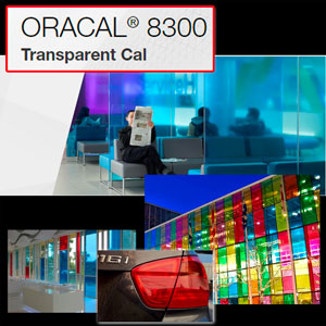 "Oracal 8300 Transparent 24"" X 1 Yard designed for Window Glass"
