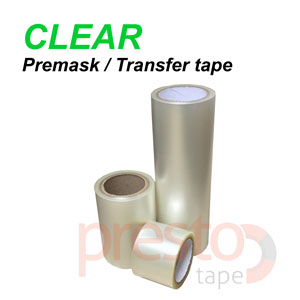 Presto Tape 24'' x 100FT CLEAR Application Transfer tape Premask