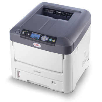 "OKI proColor C711WT White Toner LED laser Printer 8 -1/2"" x 14"""
