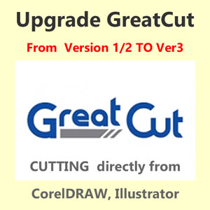 Upgrade GreatCut from 1, 2 to GreatCut 3 for GCC Vinyl Cutter
