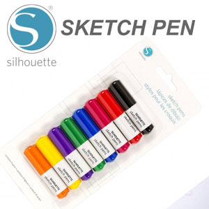 Silhouette CAMEO Sketch Pen Starter 8 Pack