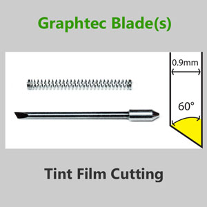 Graphtec vinyl cutter blade 0.9mm Angle 30° Window for Tint Film