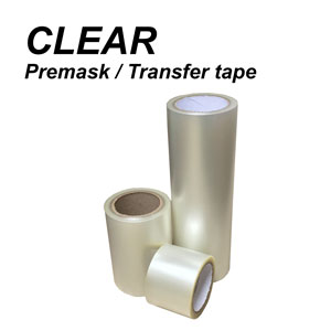 6'' x 300' CLEAR Lay Flat TApplication Transfer tape Premask