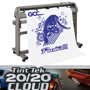 GCC Puma III Digital Servo vinyl cutter + window Tint