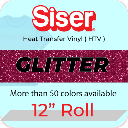 "Siser Glitter Heat Transfer Vinyl 12"" roll (5 yard to 25 yard)"