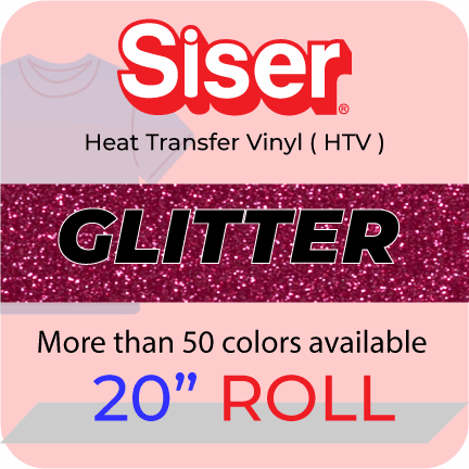 "Siser Glitter Heat Transfer Vinyl 20"" roll (5 yard to 25 yard)"