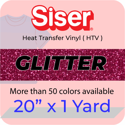 Siser Glitter Heat Transfer Vinyl (HTV) 20 in x 1 Yard