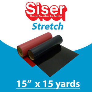Siser STRETCH Heat Transfer 15in x 15 Yards