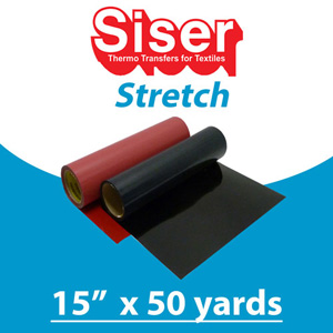 Siser SUPER STRETCH Heat Transfer 15in x 50 Yards