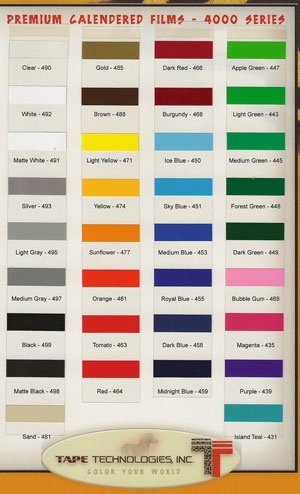 "12""x24"" X 10 Sheet Adhesive Craft vinyl"