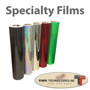 "Holographic Metallized Decal vinyl film 12"" x 24"" sheet"