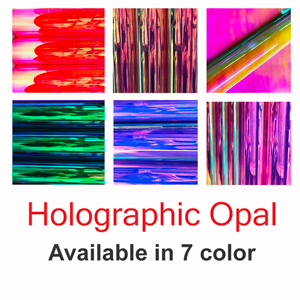 "12"" x 24"" sheet OPAL Holographic Decal vinyl film"