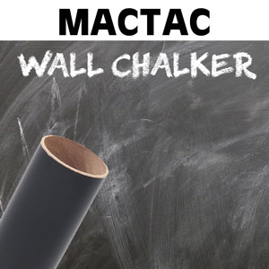 MACtac wallCHALKER Black Removable Textured Vinyl 24'' x 1yd