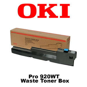 Oki Data Pro 920 WT LED CMYW Laser Printer Waste Toner Box